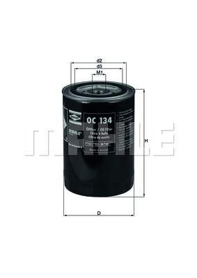 KNECHT OC134 Масляный фильтр купить недорого