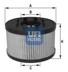 2501700 UFI Масляный фильтр для OPEL VECTRA