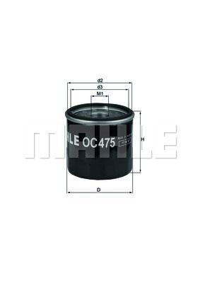 OC475 KNECHT Масляный фильтр для RENAULT LOGAN