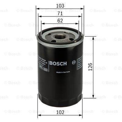 0986452042 BOSCH Масляный фильтр для MITSUBISHI PAJERO