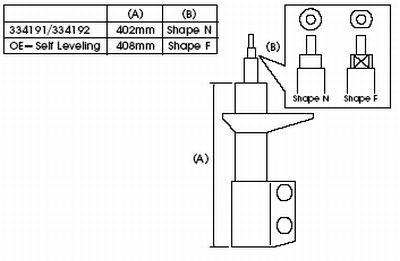 KYB334191 KYB Амортизатор подвески на SUBARU
