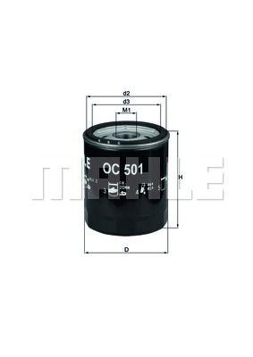 OC501 KNECHT Масляный фильтр на GAZ