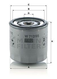 MFW71295 MANN Масляный фильтр для SKODA SCALA