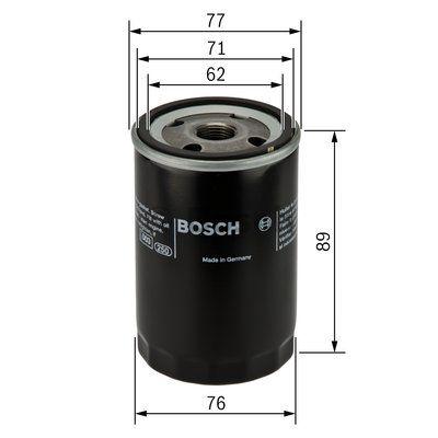 0451103227 BOSCH Масляный фильтр для FORD FIESTA