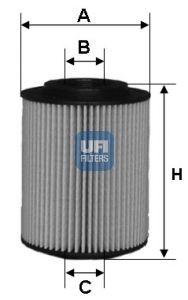 2502700 UFI Масляный фильтр для HONDA CIVIC