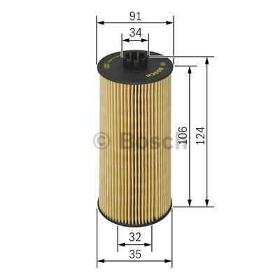 1457429302 BOSCH Масляный фильтр для OPEL VECTRA
