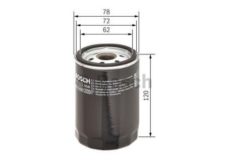 0451103344 BOSCH Масляный фильтр на JAGUAR
