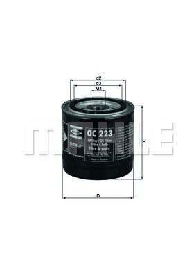 OC223 KNECHT Масляный фильтр на CHERY