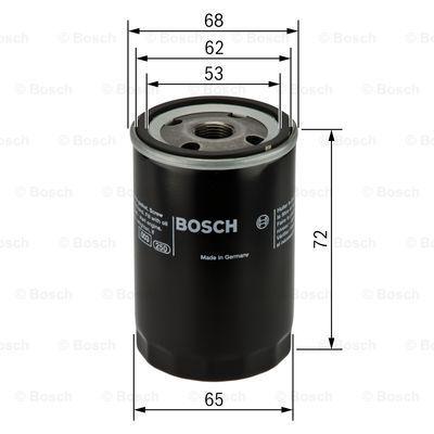 0986452028 BOSCH Масляный фильтр на DAIHATSU