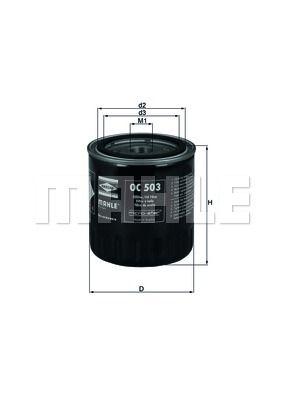 OC503 KNECHT Масляный фильтр на LDV