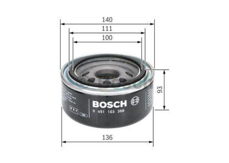 0451103368 BOSCH Масляный фильтр на NISSAN