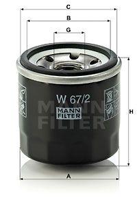 MFW672 MANN Масляный фильтр для CHERY QQ
