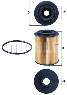 OX160D KNECHT Масляный фильтр для AUDI Q7