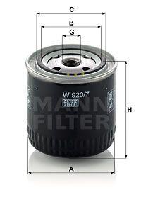 MFW9207 MANN Масляный фильтр на SCANIA