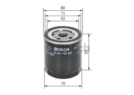 0451103337 BOSCH Масляный фильтр на SKODA