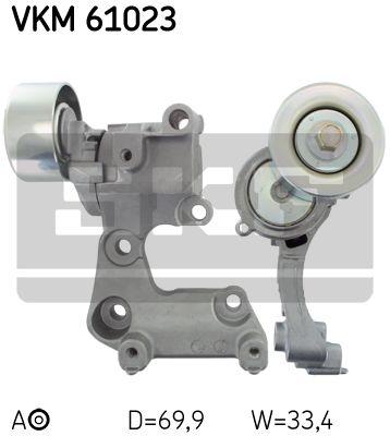 SKF VKM61023 Натяжной ролик, поликлиновой  ремень Купить недорого