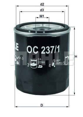 OC2371 KNECHT Масляный фильтр на LDV