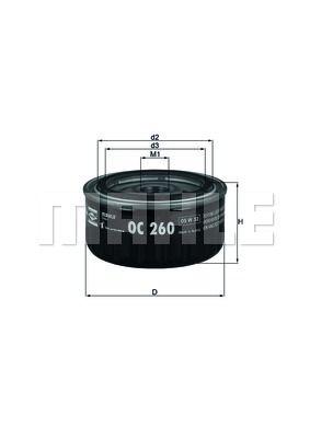 OC260 KNECHT Масляный фильтр на DACIA