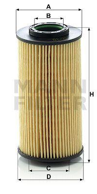 MFHU71210X MANN Масляный фильтр для KIA CERATO