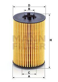 MFHU7020Z MANN Масляный фильтр для SKODA SCALA