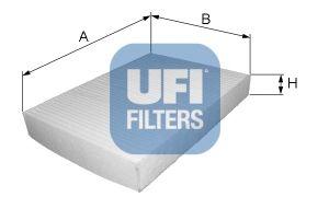 UFI 5314700 Фильтр, воздух во внутренном пространстве Купить недорого