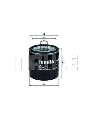 OC90OF KNECHT Масляный фильтр для CHEVROLET LACETTI