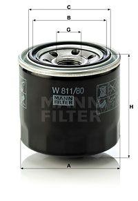 MFW81180 MANN Масляный фильтр для HYUNDAI SONATA