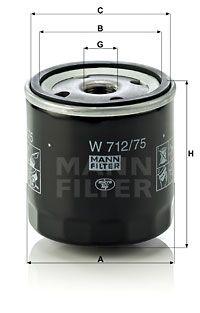 MFW71275 MANN Масляный фильтр для CHEVROLET LACETTI