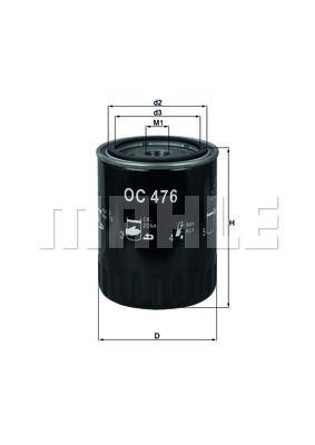 OC476 KNECHT Масляный фильтр для HYUNDAI TUCSON